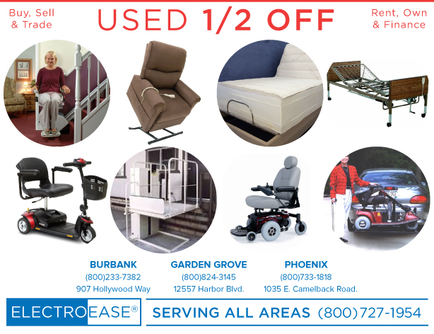 used 1/2 off los angeles motorized beds chairs wheelchairs gogo scooters stairlifts chairlift
