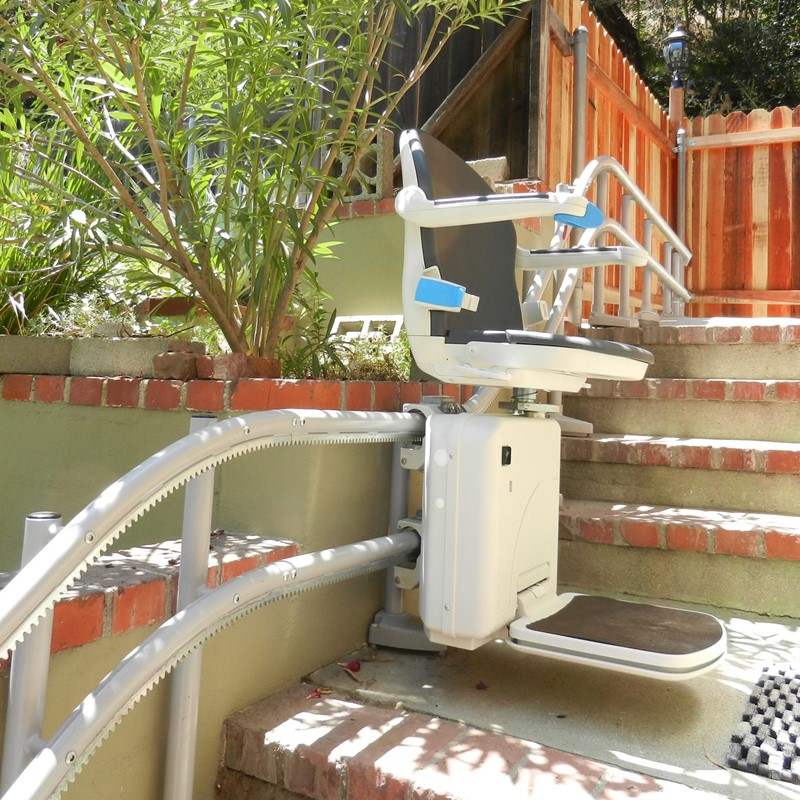 handicare 2000 otudoor stairlift are outside exterior staircase stairlifts