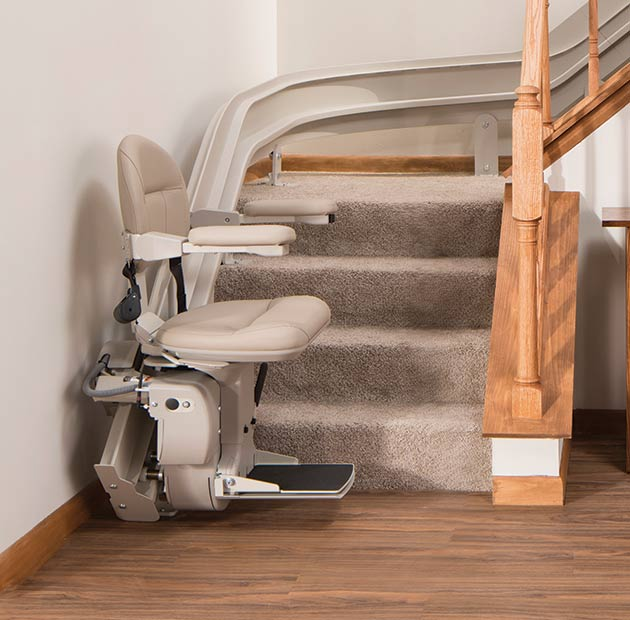 Lloyd Kraus san francisco Bruno Elite Curved CRE2110 indoor stairlift