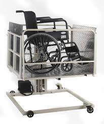 WHEEL chair elevator lift